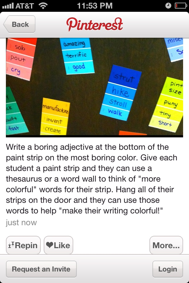 making your adjectives more colorful ... great activity with kids