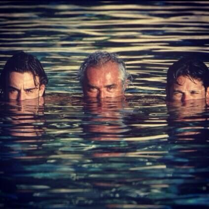 Blast From The Past!! F. Alonso, Flavio Briatore & Giancarlo Fisichella in their Renault days.