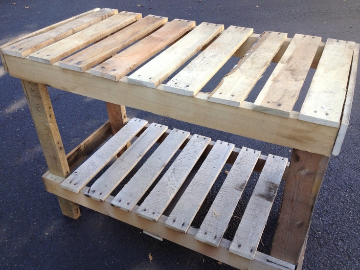 DIY Pallet Table Would make a good potting table