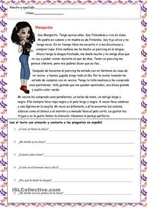 Soy Margarita trabajos - Hojas de trabajo de ELE gratuitas