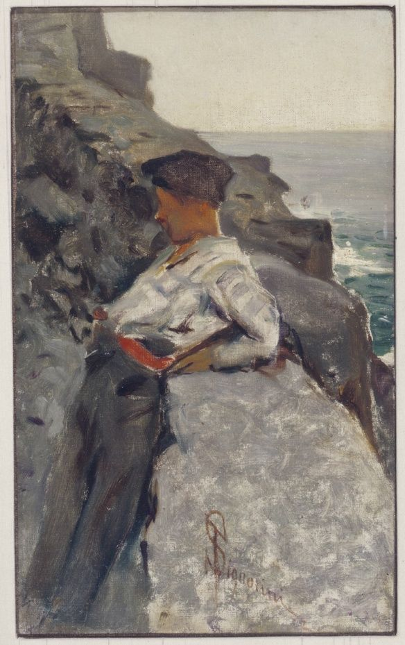 Telemaco Signorini - Bambino a Riomaggiore, c.1893.