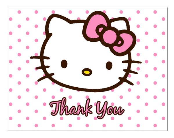 Hello Kitty Thank You Cards Birthday Pinterest Cards