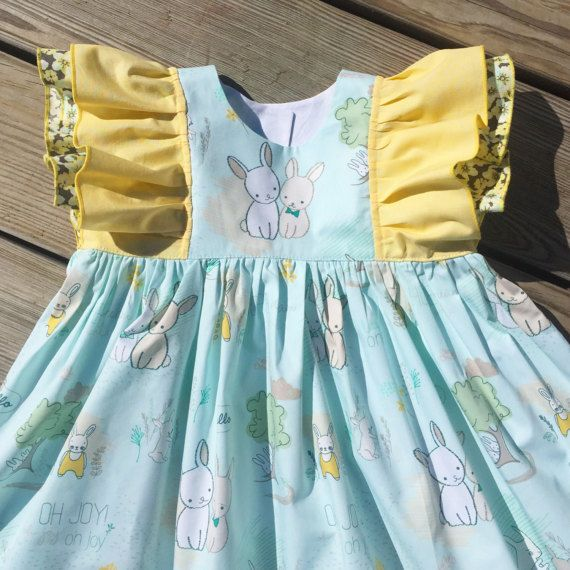Easter Bunny friends dress girls egg hunting outfit toddler