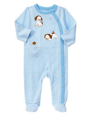 The Poky Little Puppy Footed Bodysuit