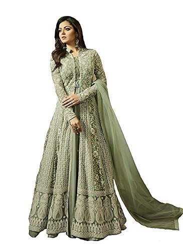 eec2d6863f5b MONIKA SILK MILL Women's Net Embroidered Anarkali Salwar Suit #priceonline # price #shopping #