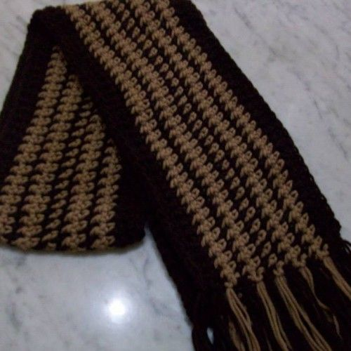 Bufandas tejidas al crochet - Aldea