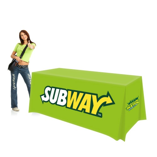 Color Cloths Trade Show Table Cover (6ft All Skirt Logo Print)