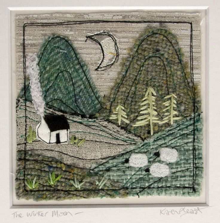 Irish Winter Landscape Textile Art, inspired by the beautiful mountain landscapes of my home in Co. Kerry, Ireland. This original textile artwork will be made to order with lots of love using a mix of Irish tweeds and recycled fabrics, and is finished with embroidery stitches. Each landscape will vary ever so slightly from the sample shown ensuring your piece is completely unique! The piece will be signed, titled, supplied in a cello bag and carefully packaged to prevent bending during…