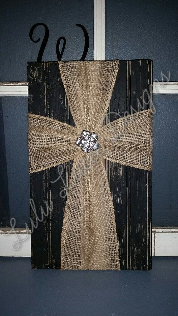 Burlap Cross Wall Decor by LuLuLucee on Etsy - http://www.homedecoratings.net/burlap-cross-wall-decor-by-lululucee-on-etsy
