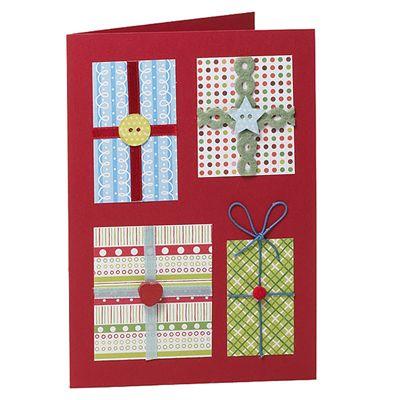 navideas tarjetas hechas con botones ue decoracion infantil y juvenil bebes y nios