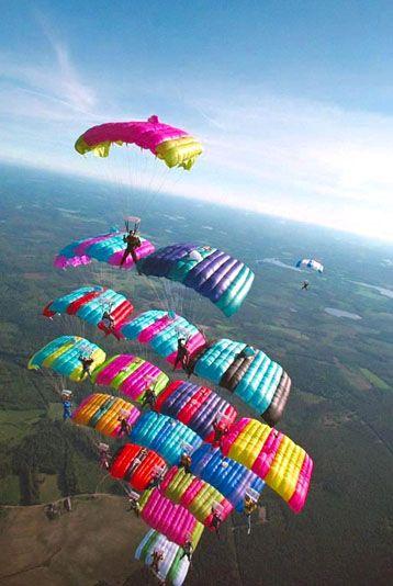 Faire du parachute