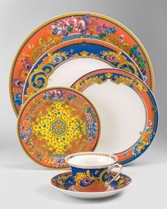 Primavera Dinnerware by Versace at Neiman Marcus.  sc 1 st  Pinterest & 26 best VERSACE CROCKERY images on Pinterest | Porcelain Dish sets ...