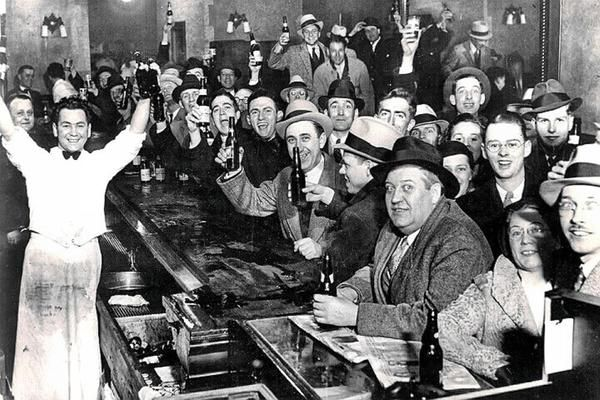 During the early 1900's, a conservative movement lobbied for the banning of all alcoholic beverages as a method for solving perceived problems in society.  This became the 18th Amendment, which put in place Prohibition from 1920-1933; however, on December 5, 1933, the 21st Amendment was officially ratified, which overturned Prohibition entirely.