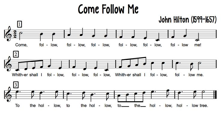 Beth's Music Notes: Come Follow Me