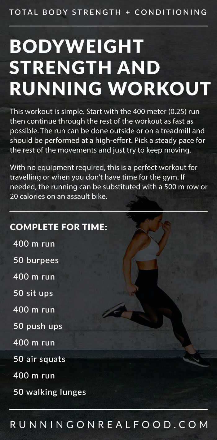 Bodyweight Strength And Running Workout Strength And