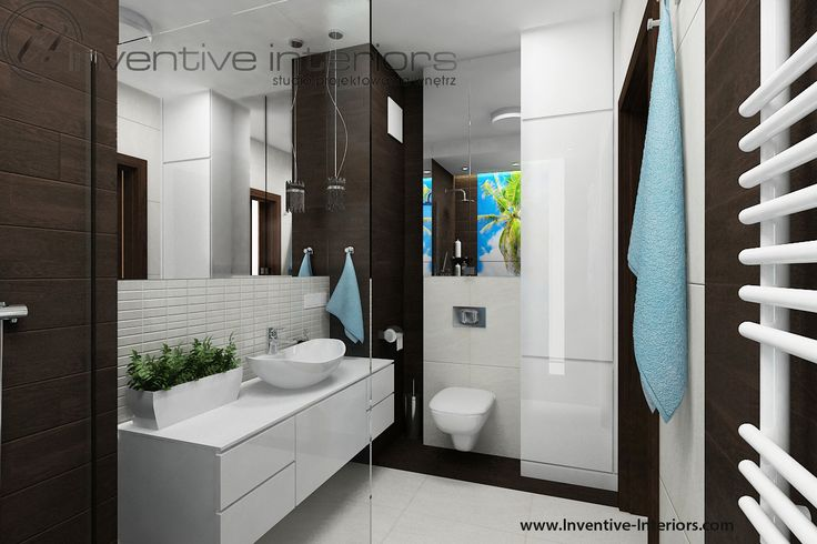 Projekt łazienki Inventive Interiors - płytki drewnopodobne w łazience