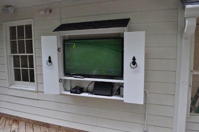 DIY TV Cabinet on Deck