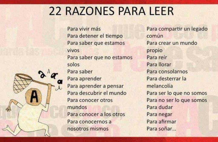 22 razones para leer