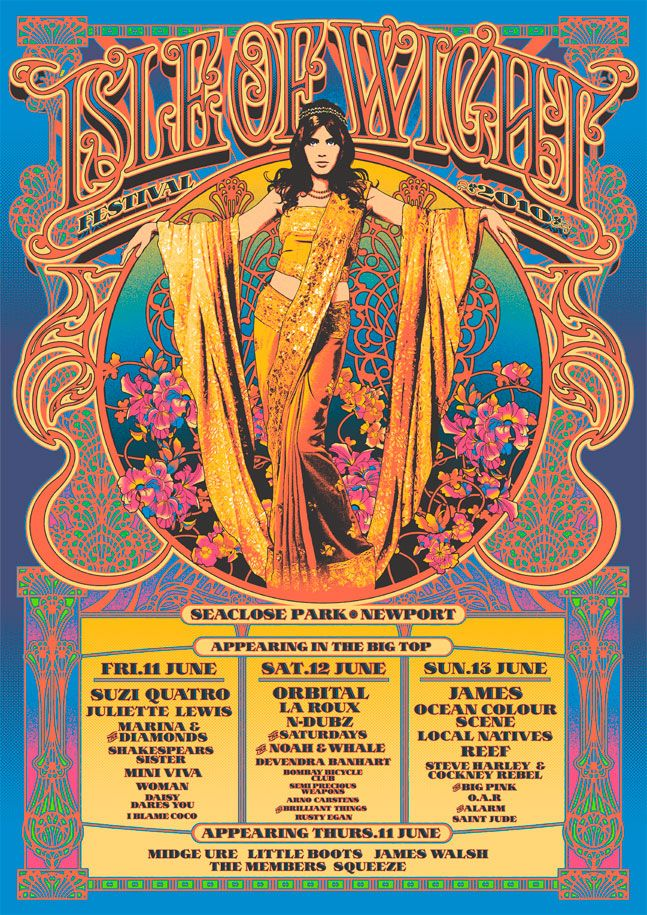 Isle of Wight psychedelic gig poster.