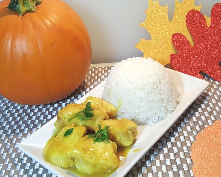 Pressure Cooker Pumpkin Curry Chickenistender and succulent with a creamy pumpkin sauce. It's a Fall feeling, with just a touch of curry.