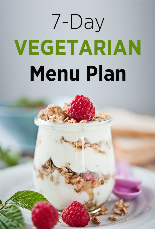 7-Day Vegetarian Meal Plan for Free