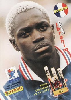 1998 Panini World Cup #43 Ibrahim Ba Back