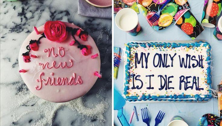 Een mooie quote op een taart doet het altijd goed, maar een (emo) tekst van Drake is nog beter. Dat moet ook bakker en bloggerJoy Wilson uit New Orle...