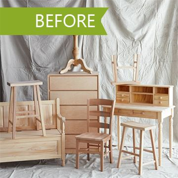 Before-and-After: Customize Unfinished Furniture