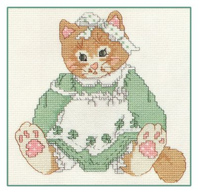 lucky kitten cross stich pattern