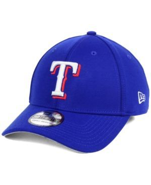 New Era Texas Rangers Team Pennant 39THIRTY Cap - Blue L/XL