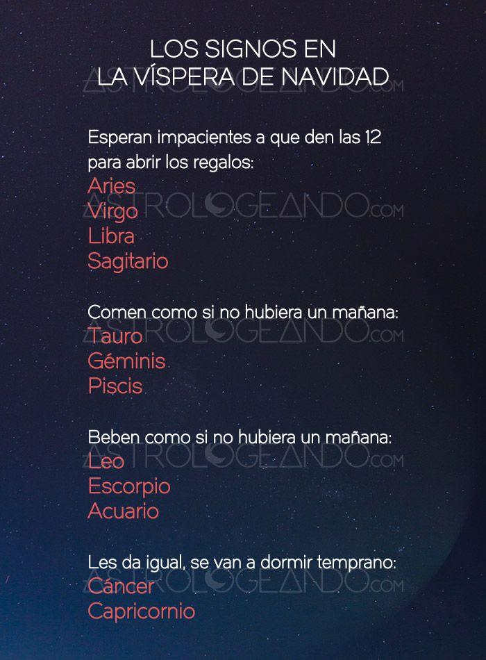 Los signos en la víspera de Navidad #Astrología #Zodiaco #Astrologeando