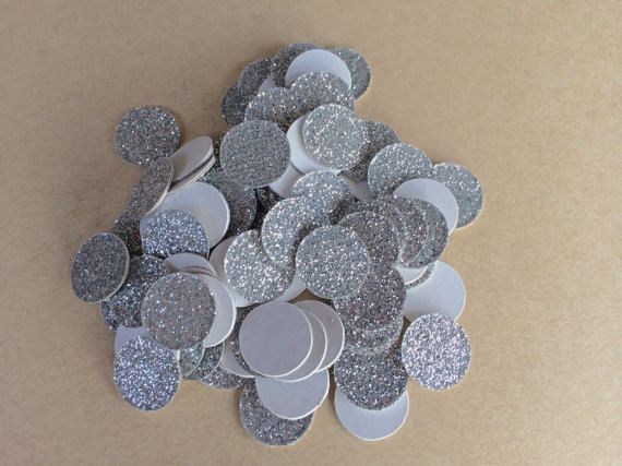 Silver Glitter Confetti. Perfect for by SnowflakeDesigns2015