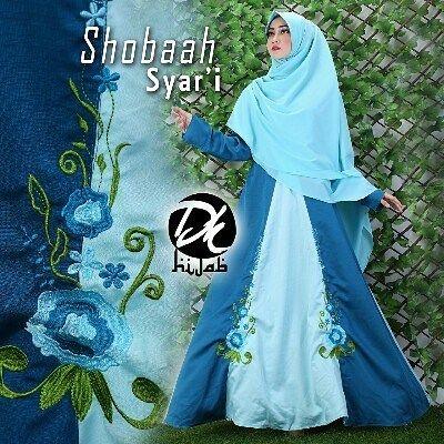 SHOBAAH SYAR'I by DK Lovers (bordir bunga)  Fabric: ballotelly 2 warna -Panjang gamis: 140cm -LD: 100cm -Retsleting depan -karet belakang -pjg lengan: 60cm (di ujung ada manset dg 2 kancing)  Retail: 360.000 Reseller 340.000 est. ready 8 nov  Dp 50% = Booking  Line @kni7746k  Wa 62896 7813 6777  #pin #shobaahsyaribydklovers #hijaboftheday #gamiskhimarbranded #gamiskhimarbrandedoriginal #gamiskhimarbrandedoriginalmurah #distributorgamissyarisetkhimar #distributorgamissyaribrandedoriginal…