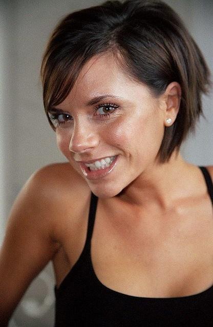 Victoria Beckham short hair, cute