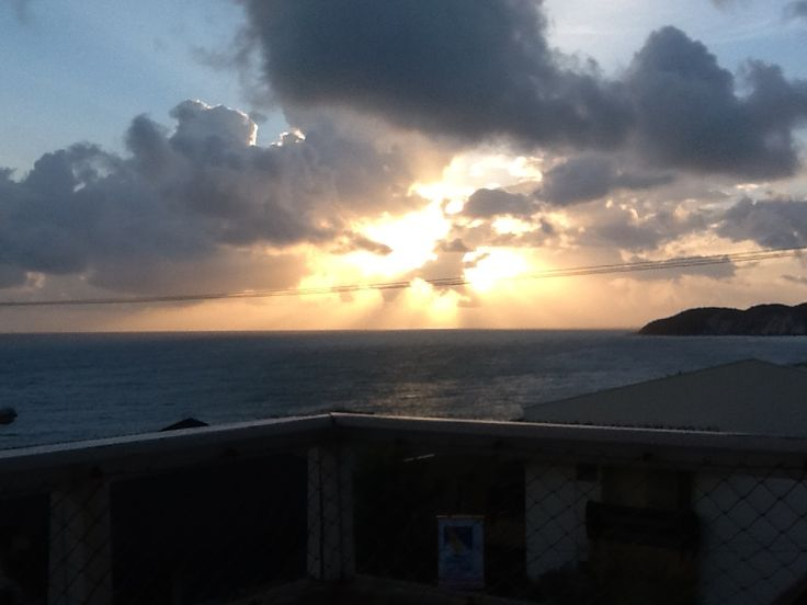 O sol nascendo em Ponta Negra