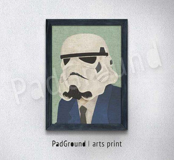 SA-Mann Print Jahrgang Mauer Dekor Star Wars Kunst von PadGround