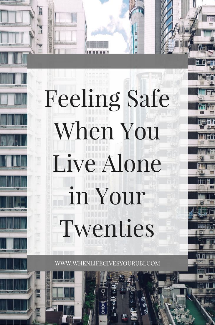 Living alone can be scary at times. Click to learn the things you can do to feel safer both in your home and city.