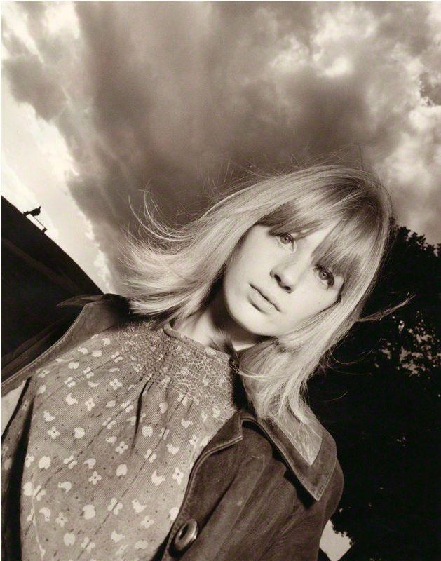 Photo by David Bailey, 1964, Marianne Faithfull.