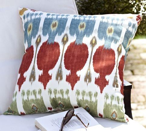 adele ikat outdoor pillow pottery barn interiors fabrics acceso. Black Bedroom Furniture Sets. Home Design Ideas