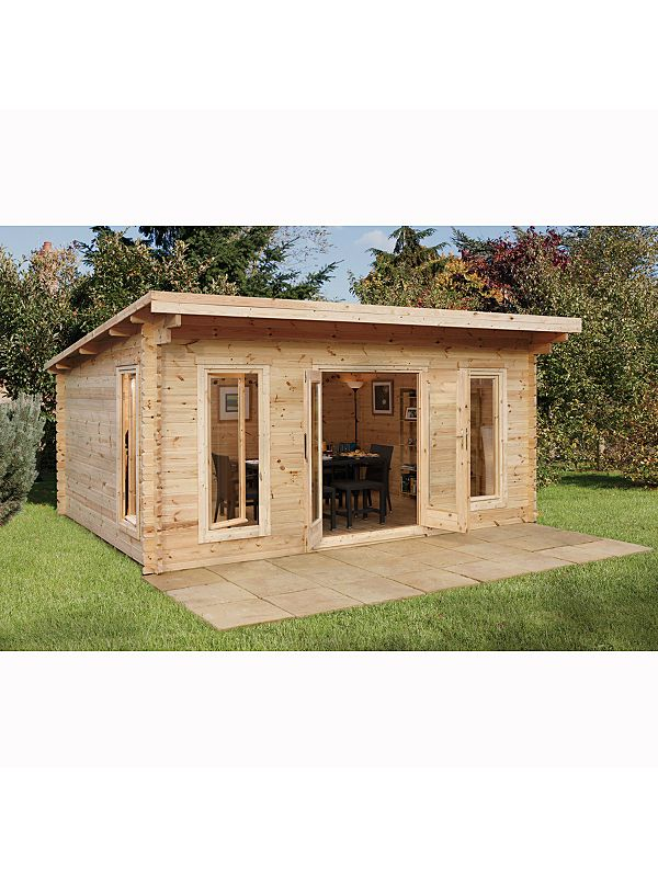 Mendip Garden Log Cabin - 2.5 x 5.0 x 4.0m | Log Cabins | ASDA direct