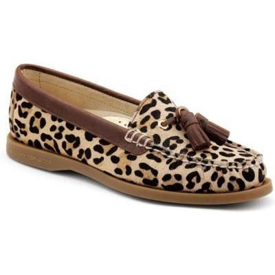 $95, Topsider Shoes Eden Tassel Loafer Leopard Pony by Sperry. Sold by Sperry Top-Sider. Click for more info: http://lookastic.com/women/shop_items/105380/redirect