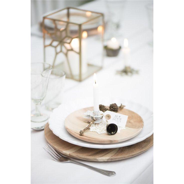 Teller Steingut festlich - festliche Tischdekoration Ib Laursen erhältlich im Webshop: derkariertehund.de