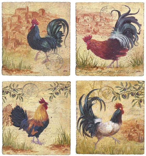 Rooster Kitchen Decor French Country: Roosters. I Do Love Roosters. Not The Country-ish Ones Though.