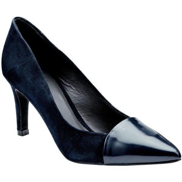 Kin by John Lewis Adina Mixed Fabric Court Shoes , Navy (7.255 RUB) via Polyvore featuring shoes, pumps, navy, court shoes, navy shoes, navy pumps, women shoes и stiletto pumps
