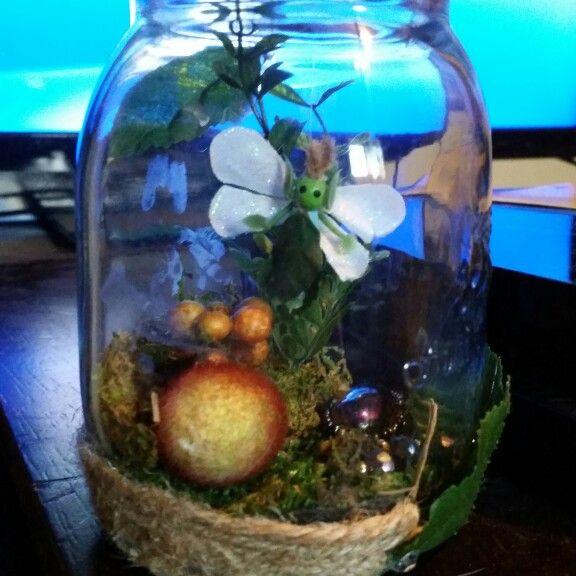 Handmade fairy in a jar