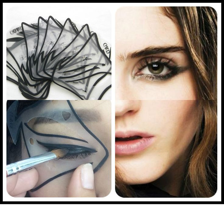7 style in 1 set Quick Cat Eyeliner Stencil