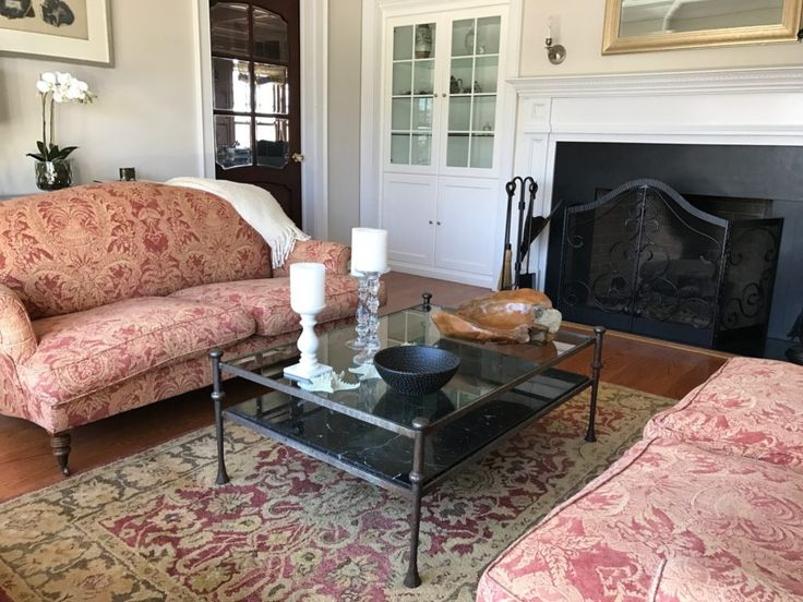 Pair Of Paul Smith Loveseats On Casters - For Sale at Norwalk Moving Sale by Watercress Springs Estate Sales, March 31, 2017 to April 2, 2017, 10am to 4pm, 2 Canfield Crossing, Norwalk, CT.