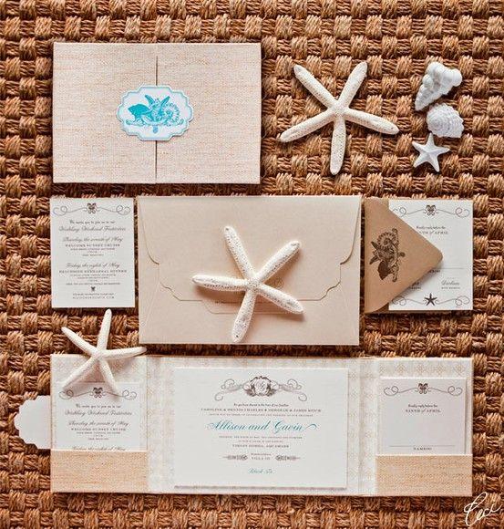 The Little Mermaid Wedding Invitations. Cute for a beach theme wedding.