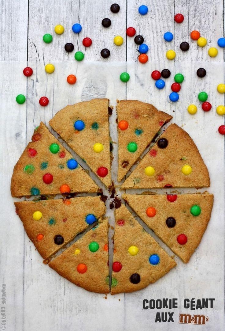 Cookie géant aux bonbons M&M's