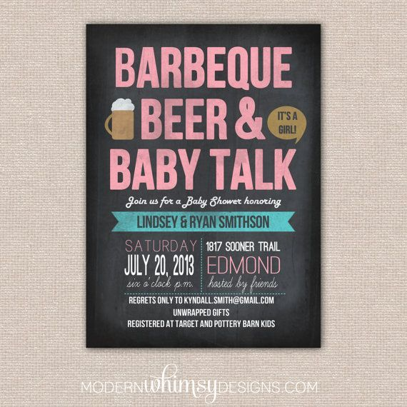 BBQ Baby Shower- BBQ Beer And Baby Talk Theme Party